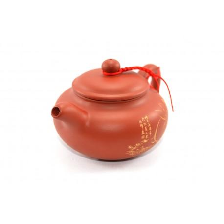 Rabbit clay teapot red