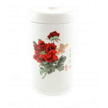 "Ceramic tea container ""Wild rose"""