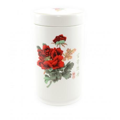 """Ceramic tea container """"Wild rose"""""""