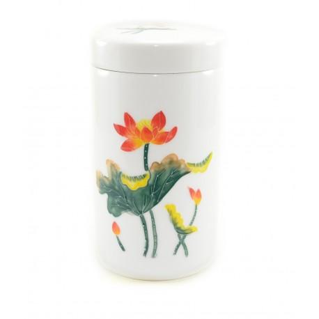 """White tea storage """"Orange Lotus"""""""