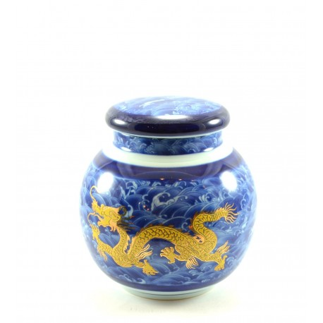 """Chinese tea container """"Blue dragon"""""""