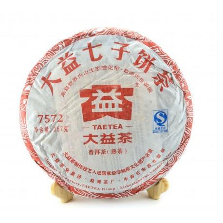 Menghai Ripe Pu-erh tea cake 7572