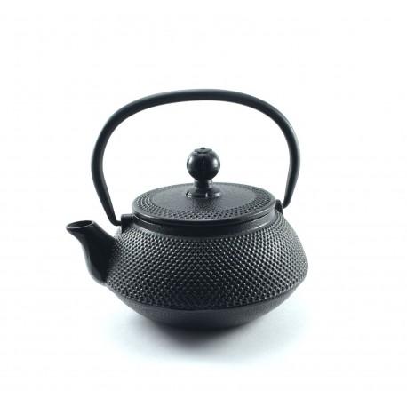 Modern cast iron teapot