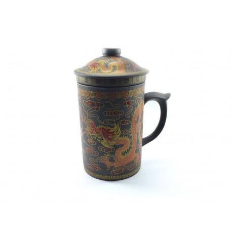 Clay tea mug