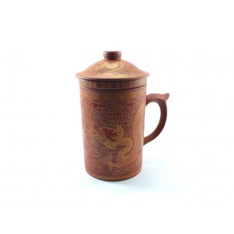 Red clay mug
