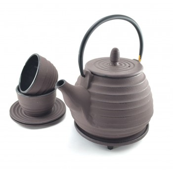 Plum Cast Iron Tea Set