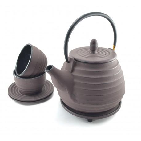Plum Cast Iron tea set