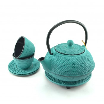 Aquamarine Cast Iron Tea set