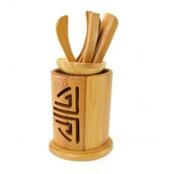 Комплект чайных предметов из бамбука