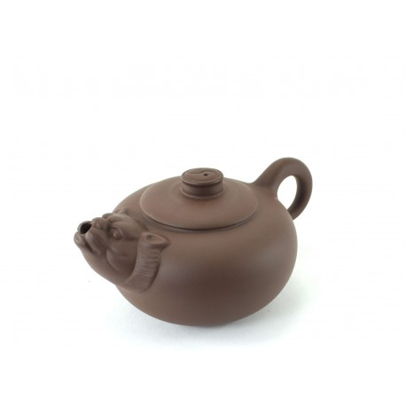 Tiger Brown Clay Teapot