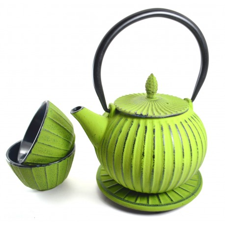 Green Cast Iron Tea Set