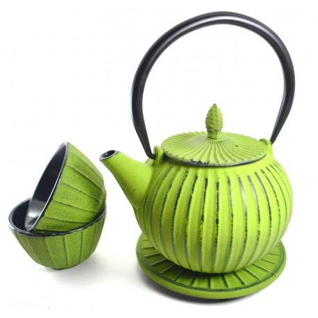 Green Cast Iron Tea Set