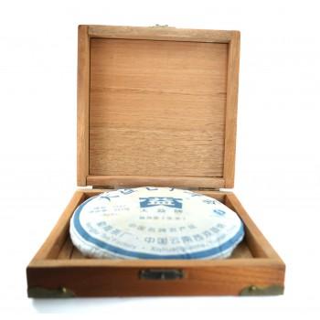 Деревянный коробка под блин чая Пу-эр 357g.