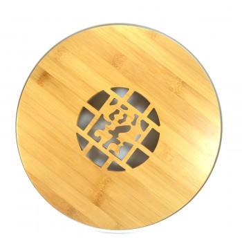 Чайная доска керамика и бамбук