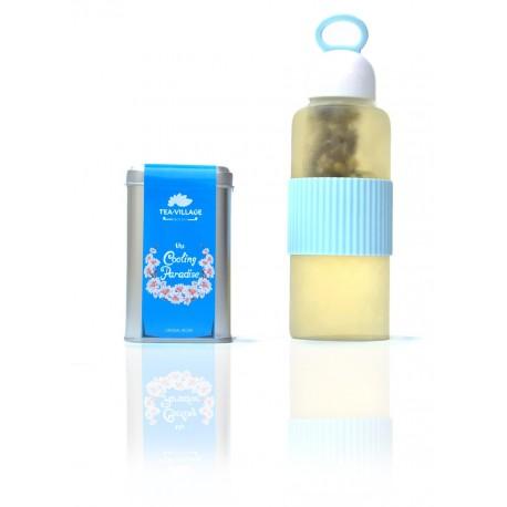 The Cooling Paradise + Borosilicate Glass Bottle
